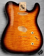 XGP Arched Top Single-Cutaway Body QUILT Maple 2 Single-Coil; Pickups Sunburst