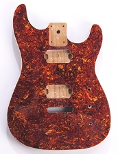 Mother of Pearl Strat Body, Tremolo Rout,  2 Humbucker Tortoiseshell Celluloid, Cream Binding