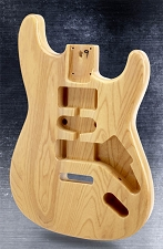 Double-Cutaway Style Body SOLID USA ASH Clear Gloss Finish