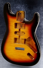 Lightweight vintage  Double-Cutaway Style Body HSH Quilt Top Sunburst