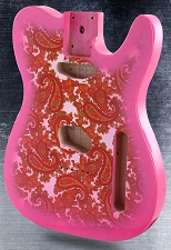 Pink Paisley Lightweight Vintage Telecaster Style Body