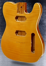 2-Humbucker Telecaster Style body Flame Maple top Bound Vintage Natural