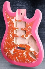 Pink Paisley Double-Cutaway Body HSH Super LIghtweight