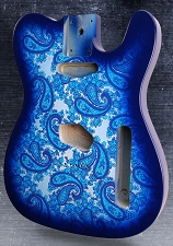 Blue Paisley Lightweight Vintage Telecaster Style Body