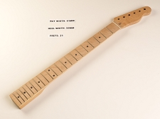 Tele® Style Maple Neck for Bolt On Bodies 21 fret