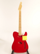 BLEM Rocket Red Tele® Style GLUED-IN Setneck, Traditional Single Coil Maple F/B