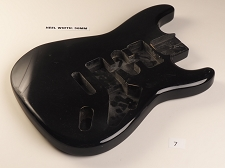 Lightweight Black Strat® Style Body- HSH pickups - Vintage Tremelo