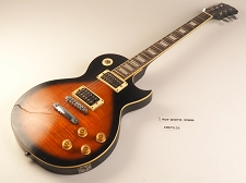 Tobacco Sunburst Flame Top Single Cutaway Style Guitar Rosewood Fret Board 2 Humbucker Pickups 22  As Is Guitar