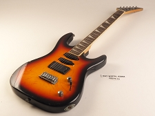 Vintage Sunburst Double Cutaway Style Guitar Rosewood Fret Board H/S/S Pickups 22  As Is Guitar