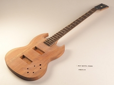 Unfinished Double Cutaway Style Bass Rosewood Fretboard 22 Fret
