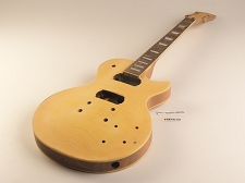 Yellow Flame Top Single Cutaway Style Guitar Rosewood Fret Board 2 Humbucker 22 Frets As Is Guitar