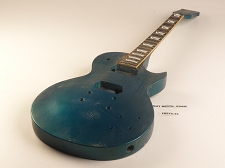 Blue Single Cutaway Style Guitar Rosewood Fret Board 2 Humbucker 22 Frets As Is Guitar