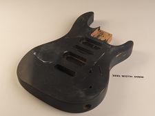 Black Double Cutaway Style Body H/S/H Pickup Rout
