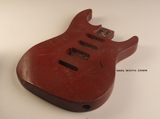 Red Double Cutaway Style Body S/S/H Pickup Rout