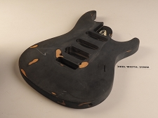 Black Double Cutaway Style Body S/S/H Pickup Rout