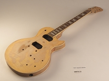 Unfinished Single Cutaway Double Bound Style Guitar Rosewood Fret Board 2 Humbucker 22 Frets As Is Guitar