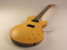 Natural Single Cutaway Double Bound Style Guitar Rosewood Fret Board 2 Humbucker 22 Frets As Is Guitar