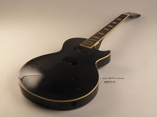 Black Single Cutaway Single Bound Style Guitar Rosewood Fret Board 2 Humbucker 22 Frets As Is Guitar