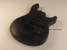 Black Double Cutaway Style Body H/S/H Floyd® Trem Rout