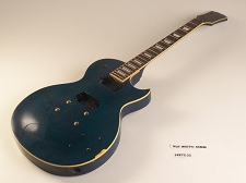 Blue Flame Top Single Cutaway Style Guitar Rosewood Fret Board 2 Humbucker 22 Fret As Is Guitar