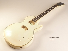 Aged White Single Bound Single Cutaway Style Guitar Rosewood Fret Board 2 Humbucker 22 Fret As Is Guitar