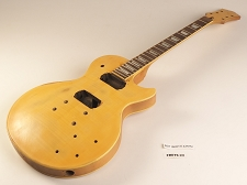 Yellow Flame Top Double Bound Single Cutaway Style Guitar Rosewood Fret Board 2 Humbucker 22 Fret As Is Guitar