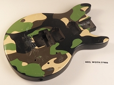 Army Camo Double Cutaway Style Body H/S/H Pickup Routs Floyd® Trem Rout