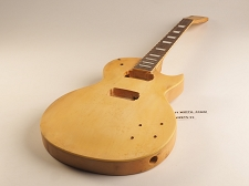 Yellow Single Bound Single Cutaway Style Guitar Rosewood Fret Board 2 Humbucker 22 Fret As Is Guitar