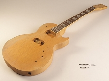 Unfinished Single Cutaway Style Guitar Rosewood Fret Board 2 Humbucker 22 Fret Twisted Neck As Is Guitar