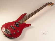Red Double Cutaway PB/J Style Bass Rosewood Fretboard 24 Fret