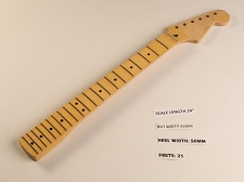 Short Scale Double Cutaway Style Maple 21 fret Neck