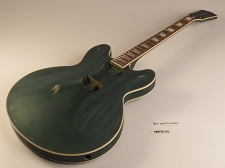 Dark Green Metallic Jazz Double Cutaway Double Bound Guitar Rosewood Fret board 22 Fret As Is Guitar
