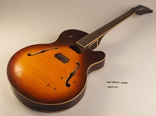 Sunburst Rockabilly Single Cutaway Double Bound Guitar Rosewood Fret board 22 Fret As Is Guitar
