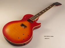 Cherry Burst Single Cutaway Guitar Rosewood Fret board 22 2HB Fret Slight Twist In Neck As Is Guitar