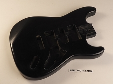 Black Double Cutaway Style Body H/S/H