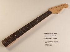 Double Cutaway Style Rosewood 22 Fret Neck NO NUT