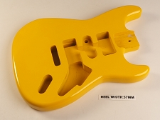 Yellow Double Cutaway Style Body H/S/H Vintage Trem Rout