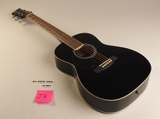 LEFTY Black Jr Dreadnought Style Guitar Rosewood Fretboard 20 Fret