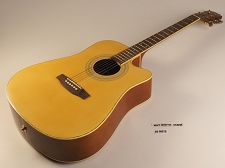 Blonde Natural Electric Dreadnought Style Guitar Rosewood Fretboard 20 Fret - NEEDS NEW ELECTRONICS