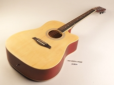 Natural Dreadnought Style Guitar Rosewood Fretboard 20 Fret