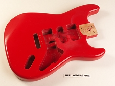 Red Double Cutaway Style Body H/S/H Vintage Trem Rout