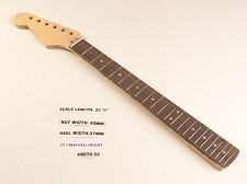 LEFTY Double Cutaway Rosewood 22 Fret Neck