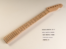 Single Cutaway Maple 21 Fret Neck - NO NUT