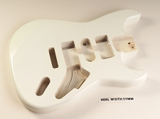 White Double Cutaway Style Body H/S/H Vintage Trem Rout