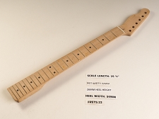 Reverse Headstock Single Cutaway Maple 22 Fret Neck NUT INSTALLED BACKWARDS