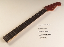Double Cutaway Rosewood 22 Fret Neck - SHARP FRETS