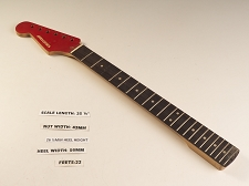 LEFTY Double Cutaway Rosewood 22 Fret Neck - MISSING FRET