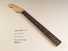 LEFTY Double Cutaway Rosewood 21 Fret Neck