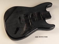 Unfinished Black Double Cutaway Style Body H/S/H Vintage Trem Rout