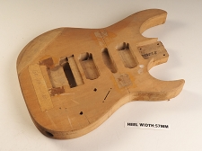 Unfinished Double Cutaway Style Body H/S/H Floyd® Trem Rout